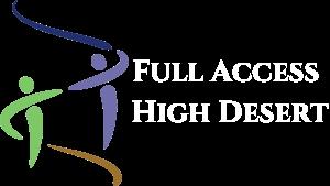 Full Access High Desert - logo white